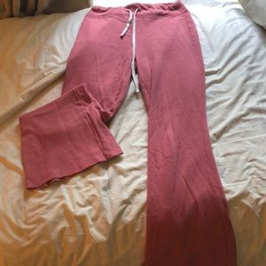 Forever 21 pink bell-bottom sweat pants